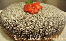 Flourless chocolate hazelnut torte