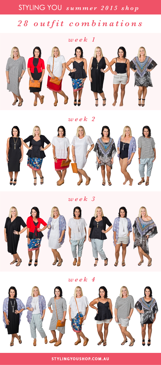 Summer 2015 Styling You Shop | 21 pieces | 28 different party and holiday looks