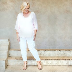 FRANKiE4 Footwear EMMA in nude | Mela Purdie top and pant at Zambezee Boutique