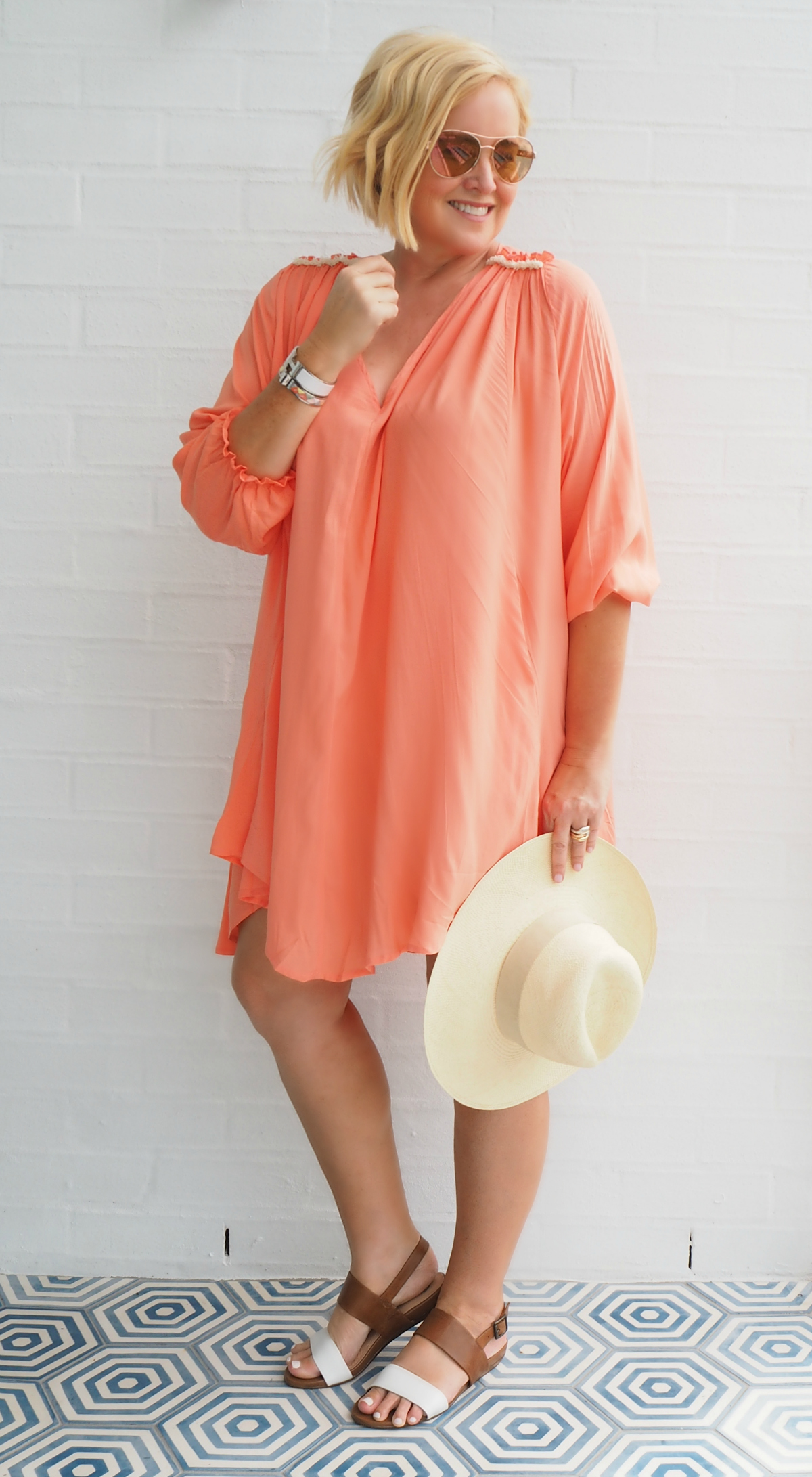Eb & Ive Marni dress | Carolyn Unwin hat | FRANKiE4 Footwear LiBBi sandals | Michael Kors sunglasses