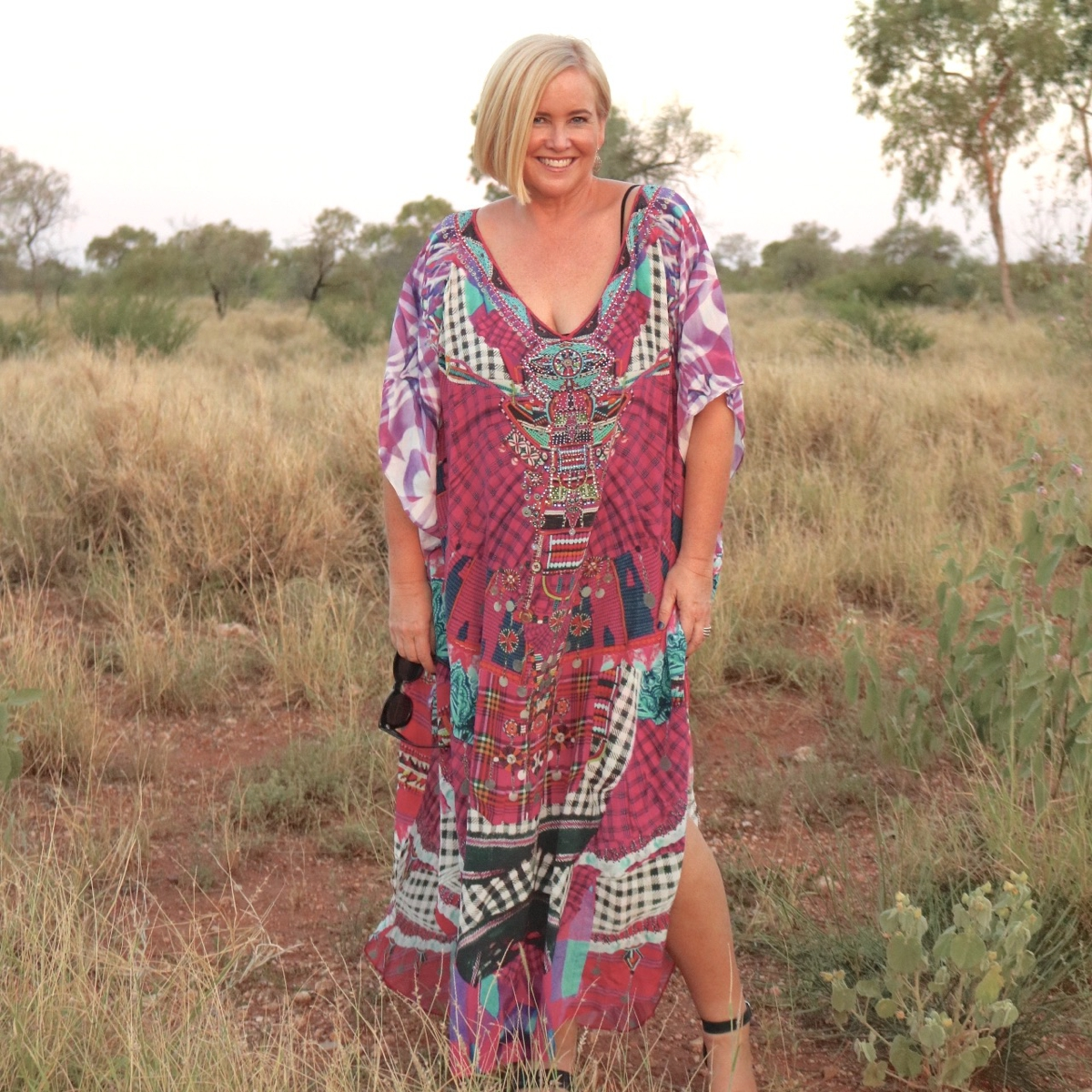 Camilla kaftan from Zambezee Boutique | Location: Barkly Homestead, Northern Territory Australia