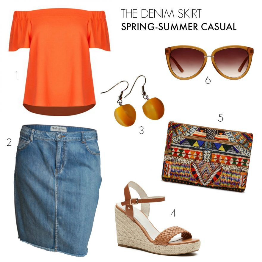 The Denim Skirt | casual outfits to take you from spring to summer