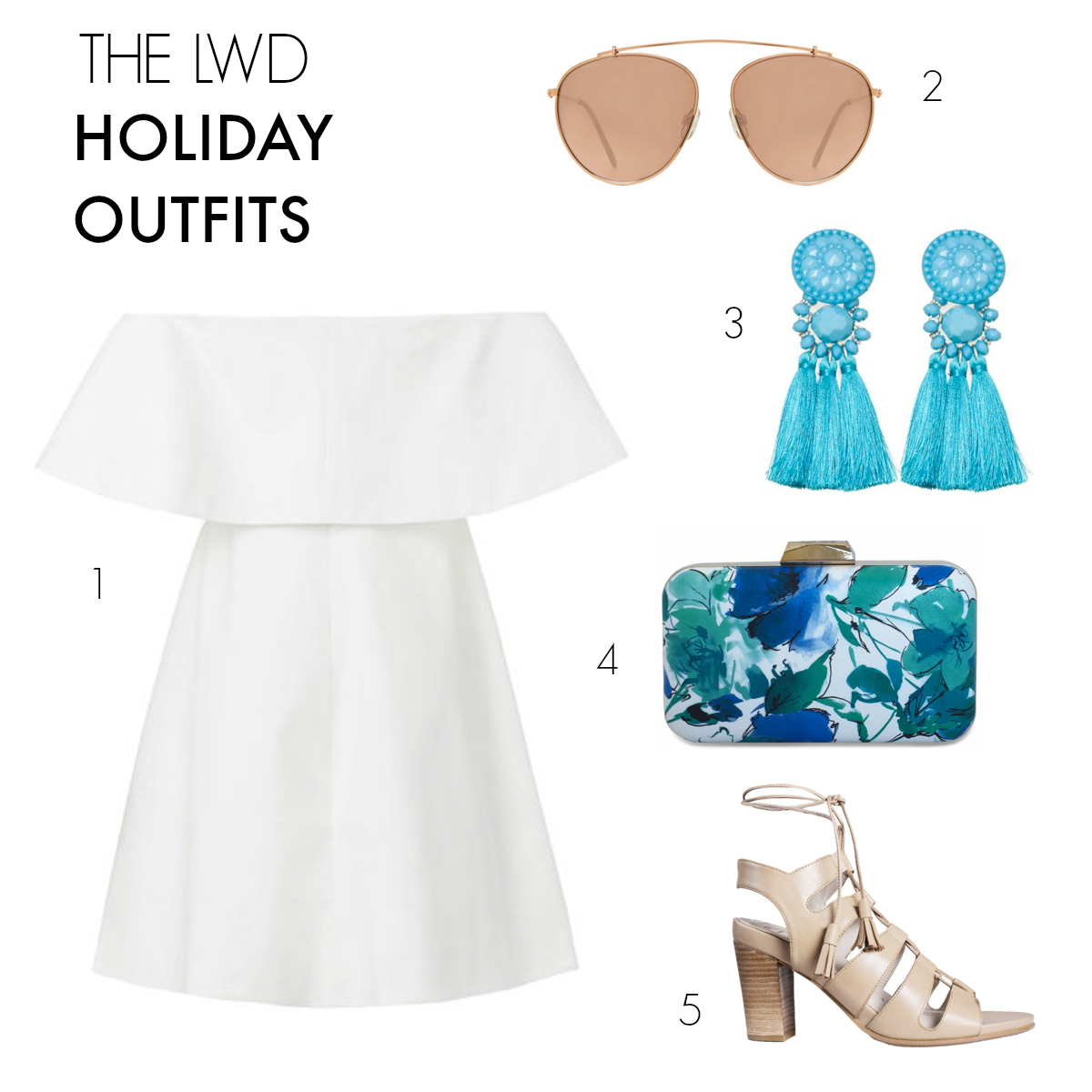 The LBD - the Little White Dress | 3 party outfits to take you through the holiday season and beyond