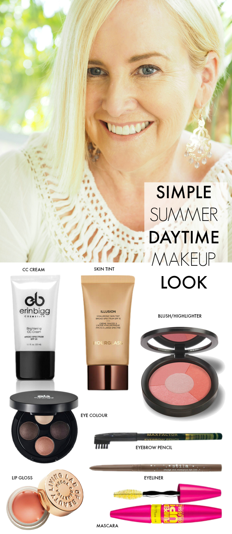 How to create a simple summer daytime makeup