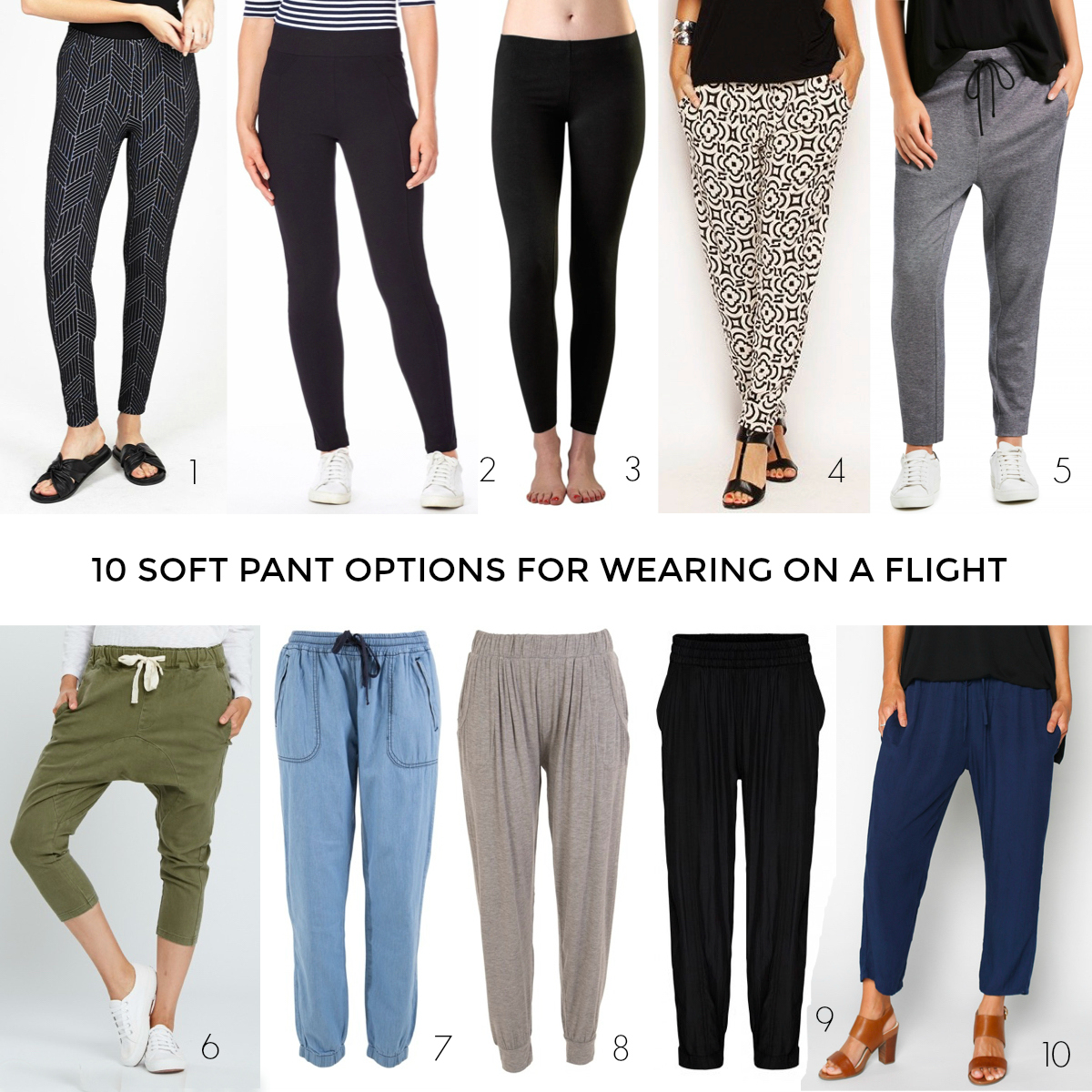 0 soft pant options for wearing on a flight when travelling overseas | Styling You