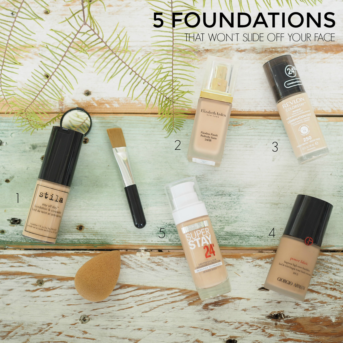 5 foundations that won't slide off your face
