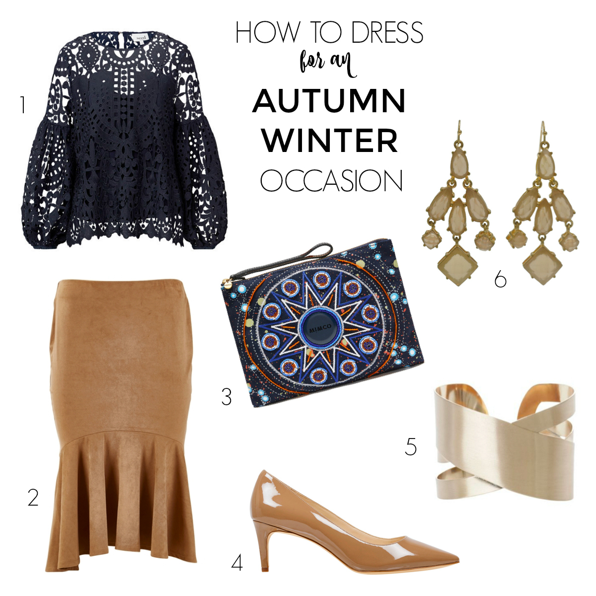 How to dress for an autumn-winter occasion | skirt and top | Styling You