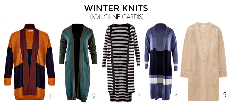 15 knits to keep you warm and stylish autumn-winter 2017 - longline cardis