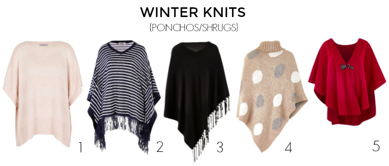 15 knits to keep you warm and stylish autumn-winter 2017 - ponchos capes shrugs