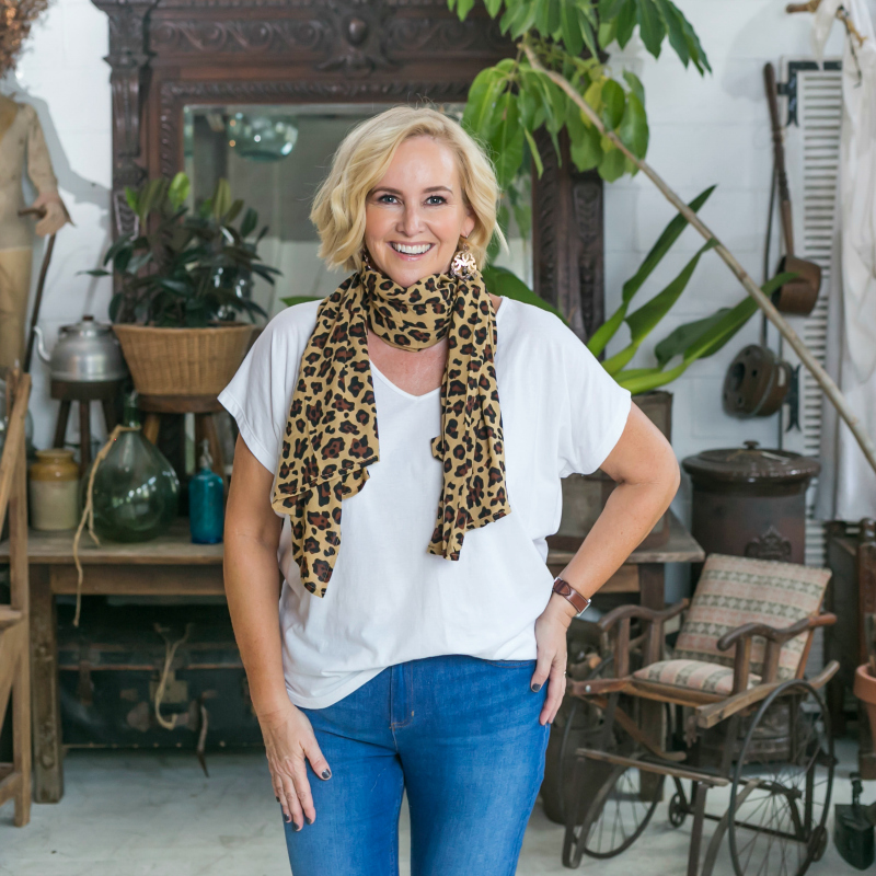 Surafina leopard print scarf | Styling You Shop
