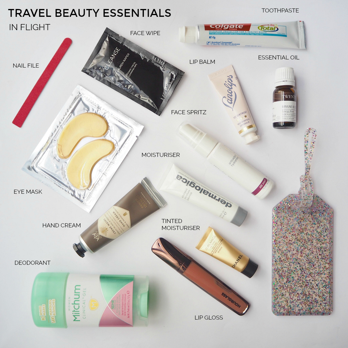 Travel beauty essentials - in flight | Styling You