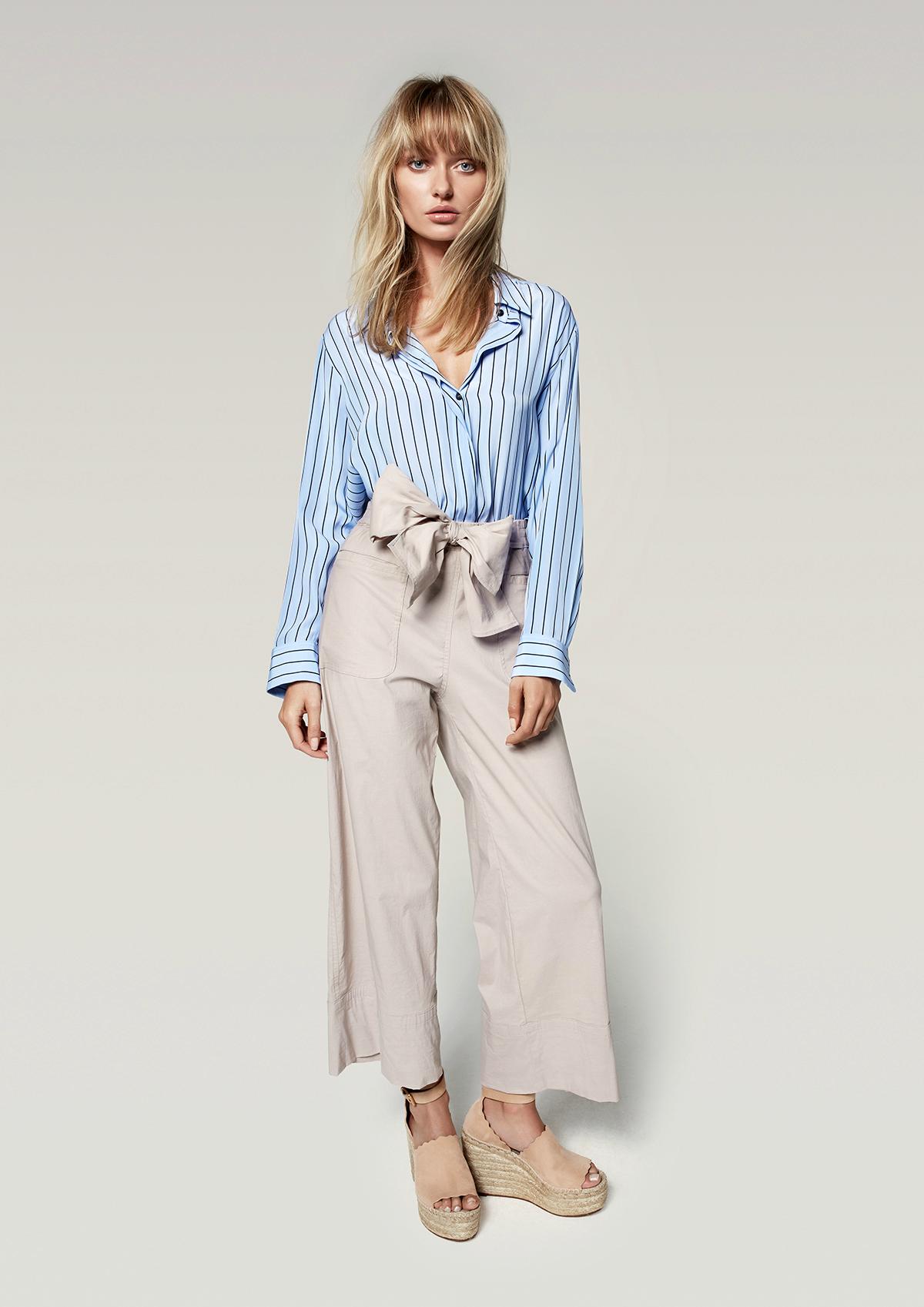Mela Purdie tie pant | Mela Purdie soft shirt in poet's stripe | Zambezee Boutique