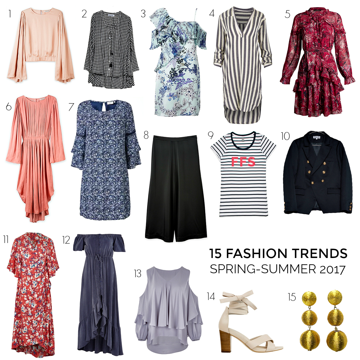 These are the 15 2017 spring-summer trends you'll want in your wardrobe