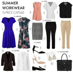How to create a 15-piece summer workwear capsule wardrobe