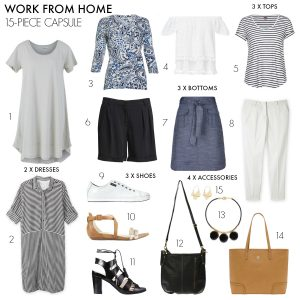How to create a work from home summer capsule wardrobe