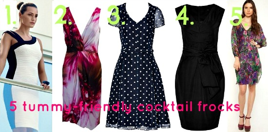 5 tummy-friendly cocktail frocks