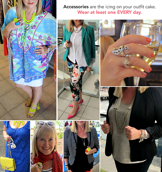 Unlock your style in 14 days: Accessories are the icing on your outfit cake. www.stylingyou.com.au