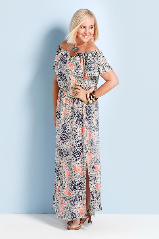 White maxi dresses size 16