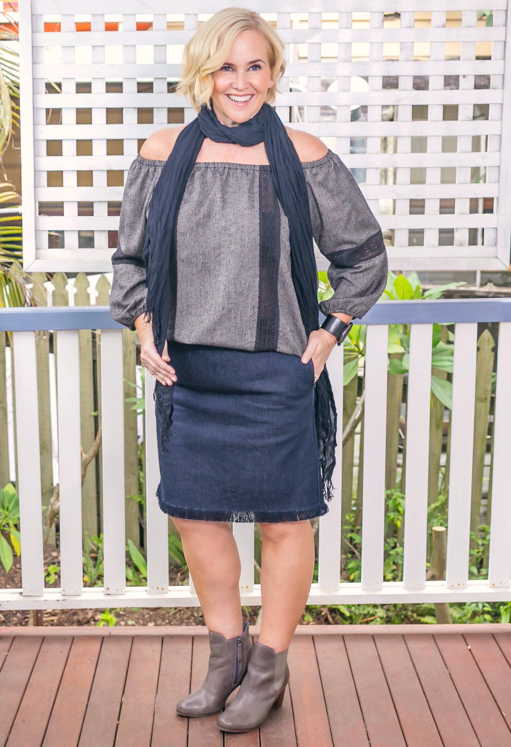 Adrift top and skirt | FRANKiE4 Footwear boots | Adorne cuff