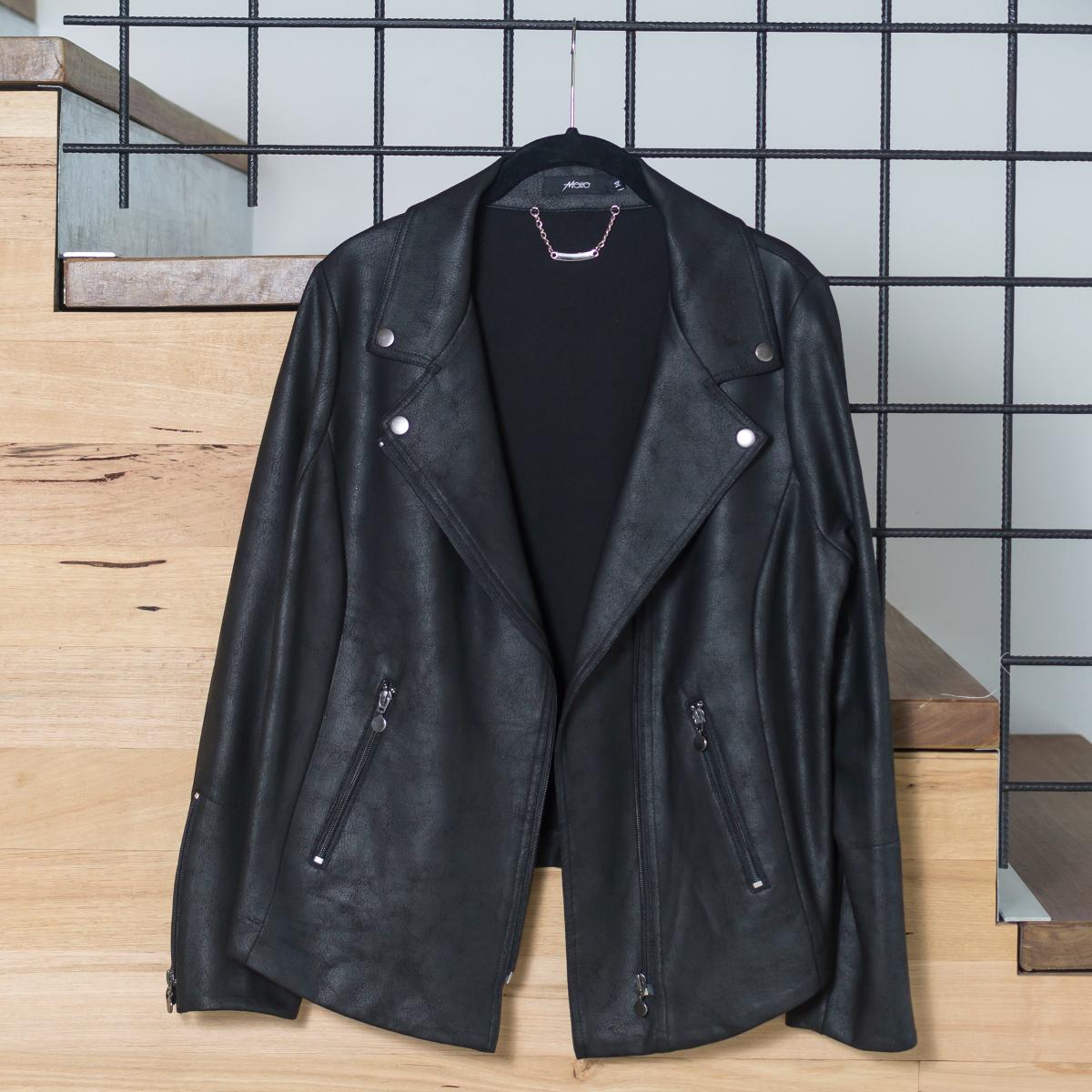 Motto leatherette ponte Harlem jacket